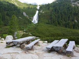 Wasserfall am Wanderweg zum Pfitscher Joch